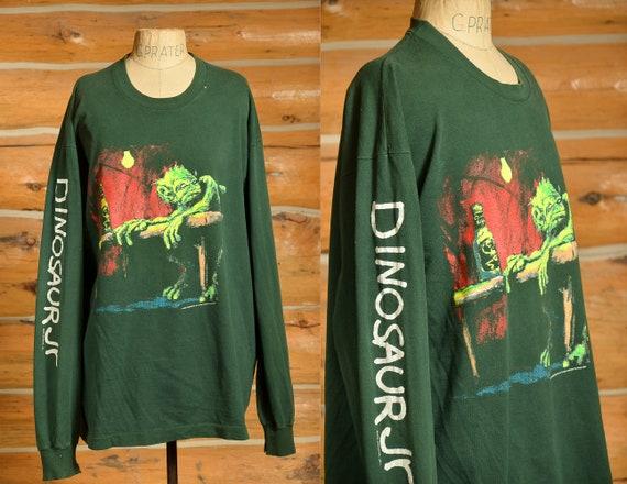 1993 Dinosaur Jr. Sleeve Script Long Sleeve Green… - image 1
