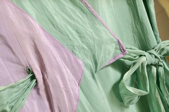 1930s Beach Pajamas Seafoam Green Silk Lounge Jum… - image 7