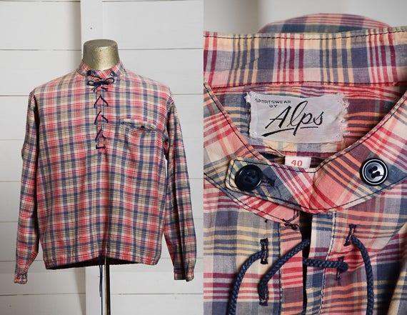 60s Madras Cotton Plaid Alps Sportswear Lightweigh
