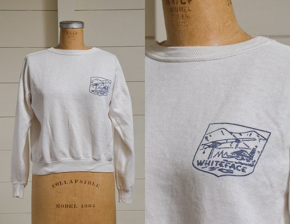 1950s Sweatshirt Whiteface Mountain Ski Resort NY