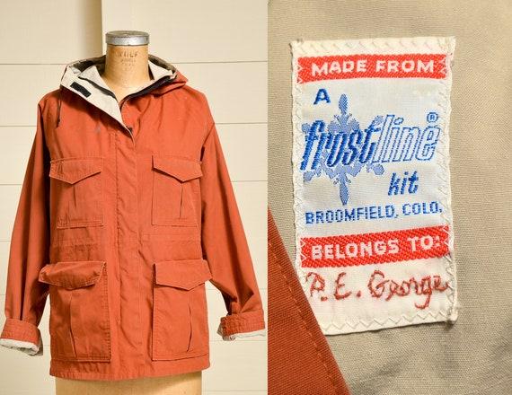Vintage Rust Orange Parka Frostline Hooded Mountai