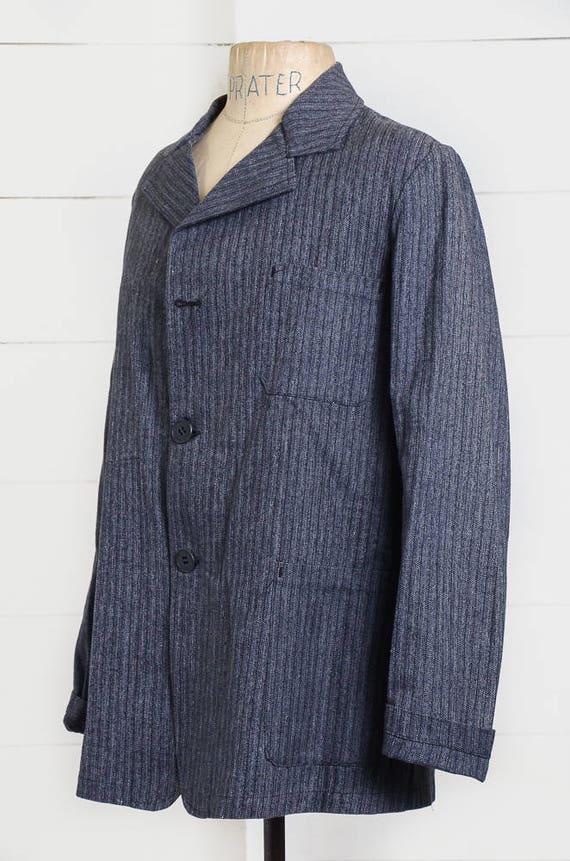 1940s Deadstock French Chore Jacket Workwear Herr… - image 4