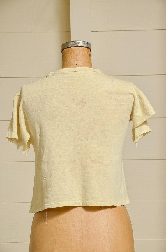 1950s Cleveland Indians Distressed Cotton Basebal… - image 4