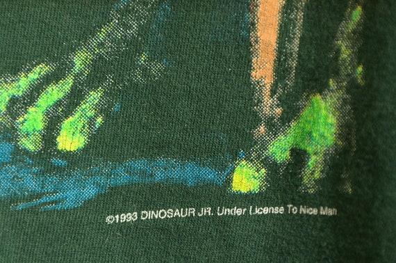 1993 Dinosaur Jr. Sleeve Script Long Sleeve Green… - image 5