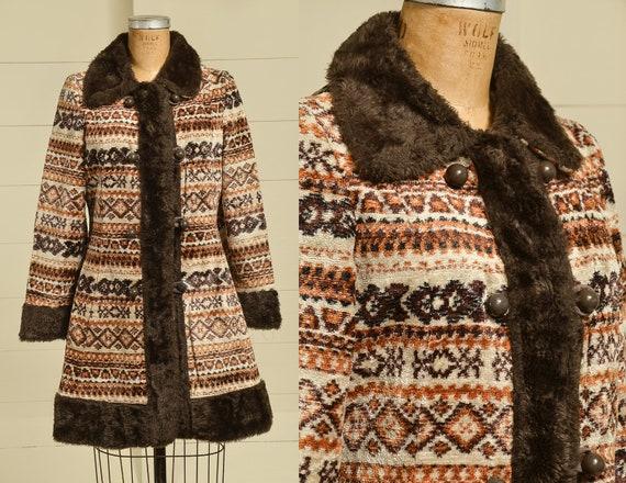 1960s Carpet Jacket Bohemian Tapestry Coat Penny L