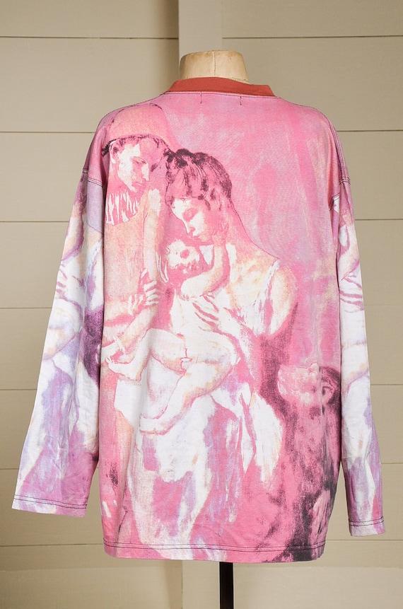 90 s Renaissance Art All Over impression impression impression l'allaitement maternel mère St. Picasso Long Manche nouveauté T Shirt c65b53