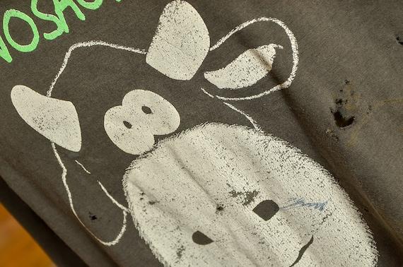 90s Dinosaur Jr. Cow T Shirt Black Cotton Distres… - image 5