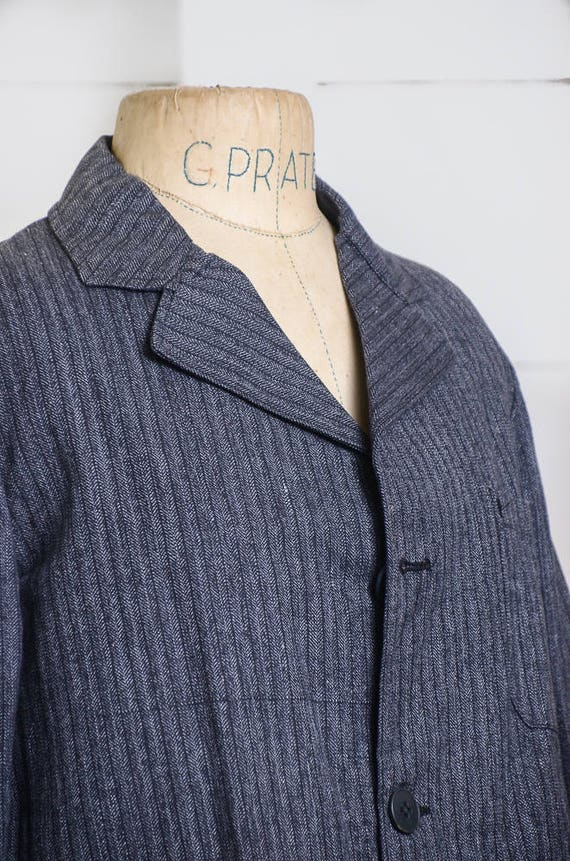 1940s Deadstock French Chore Jacket Workwear Herr… - image 3