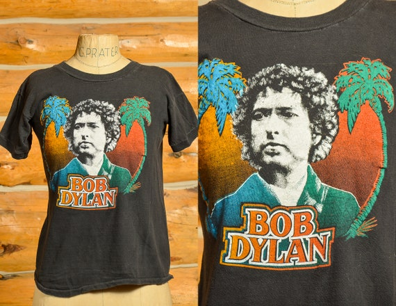 1970s Bob Dylan in Palm Trees Perfectly Worn T Shi