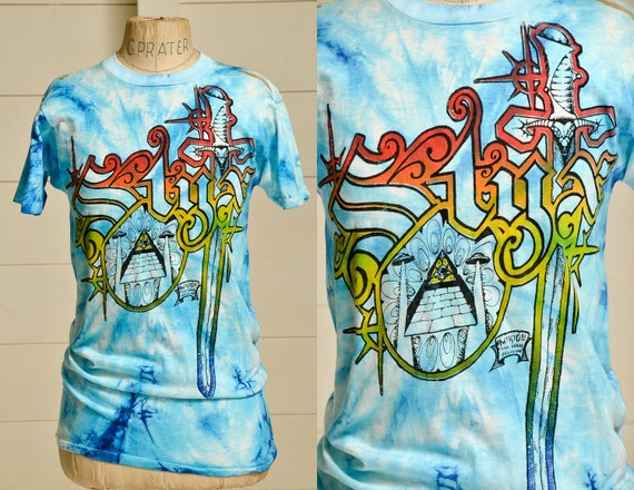 1981 Mikio STYX Tie Dye Hippie T Shirt