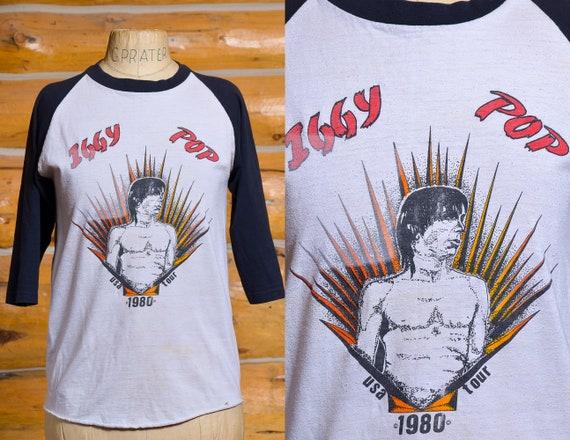 1980 Iggy Pop USA Tour Baseball Style Promo T Shir