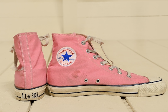 80s Converse Made In USA Pink Chuck Taylor High To