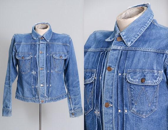Wrangler Veste en jean Ranch en coton bleu indigo pas