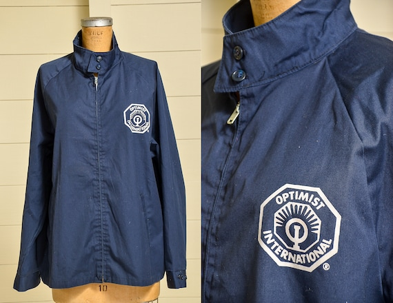 1960s Champion Jacket Navy Blue Cotton Optimist In