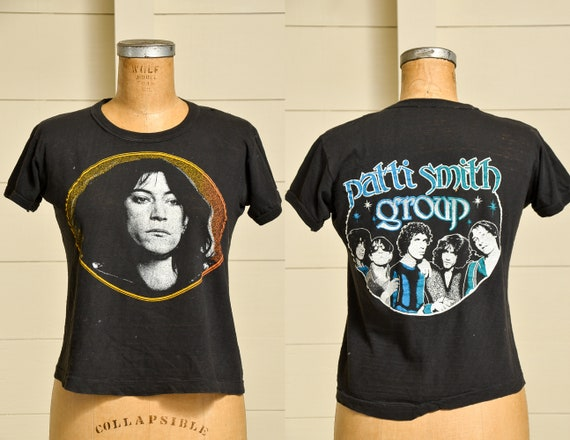 1970s Patti Smith Group Front and Back Print Black