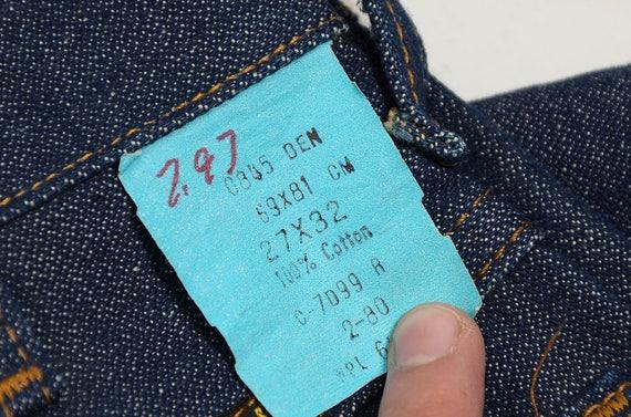 1960s Wrangler Deadstock Jeans Dark Blue Denim No Fault Denim Boot Cut Classic Western Blue Jeans 26 x 32
