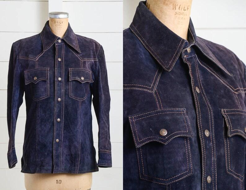 1970er Jahre Levis Trucker Jacke zwei Tasche Wildleder Moto Lederjacke