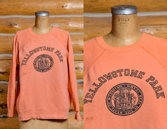 1960s Yellowstone National Park Orange with Black