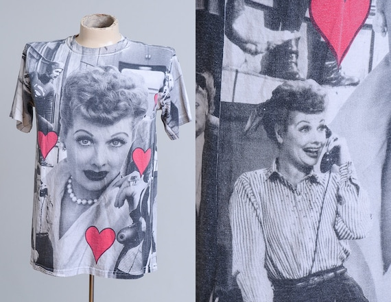 90s I Love Lucy All Over Print T Shirt