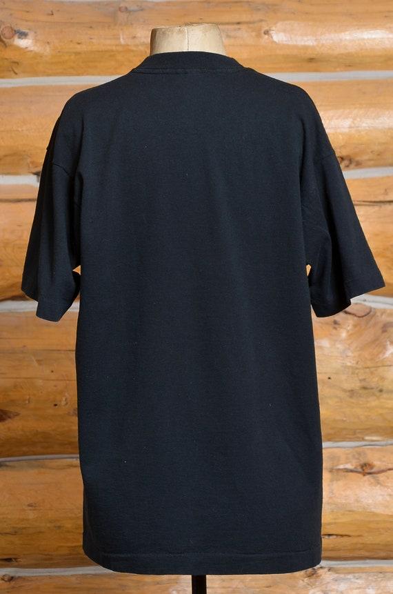 90s Twin Peaks Audrey Horne Black Cotton T Shirt - image 4