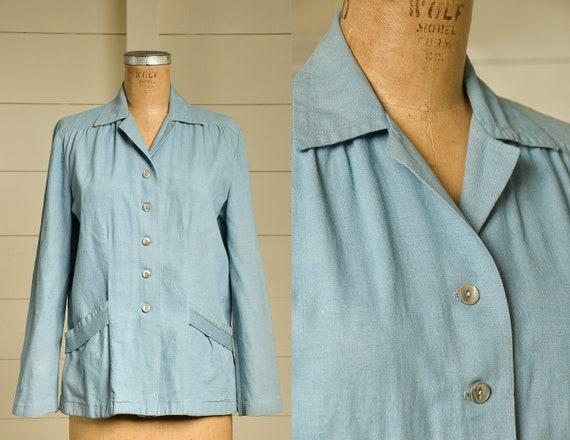 1940s Sanforized Selvedge Denim Chore Jacket Women