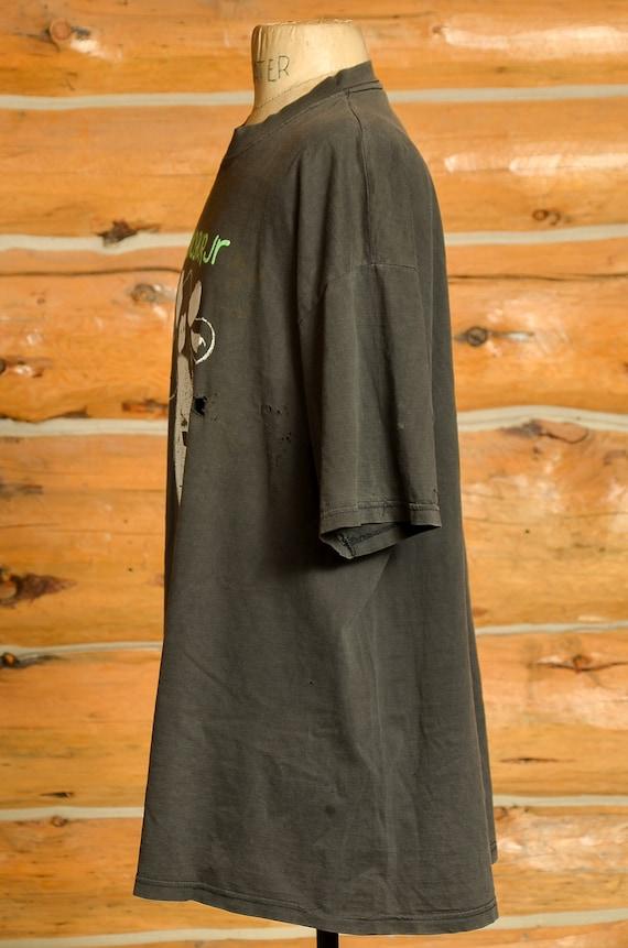 90s Dinosaur Jr. Cow T Shirt Black Cotton Distres… - image 3