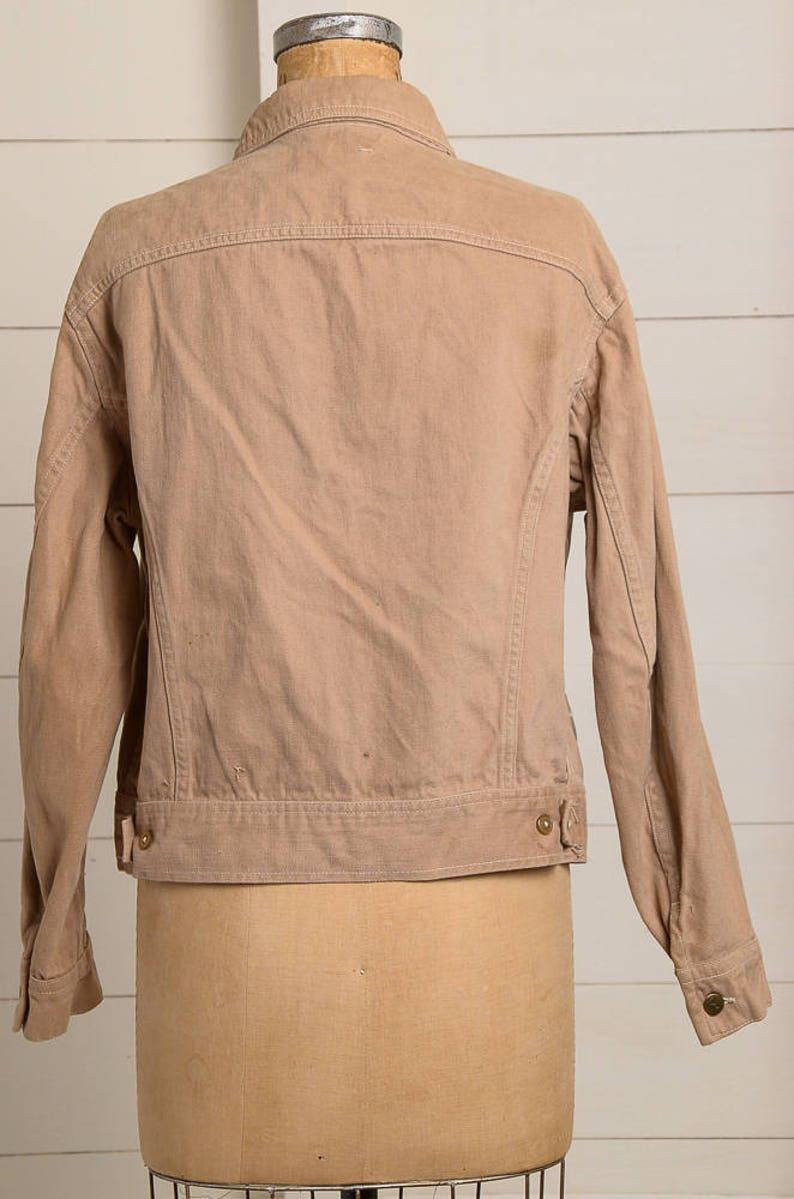 23fbaae5e27 70s LEE Brown Cotton Two Pocket Trucker Jean Jacket | Etsy