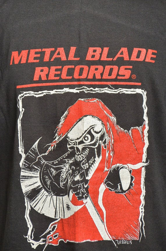 80 s Records l'avenir de lame de métal Heavy Metal l'avenir Records est maintenant T Shirt 843e63