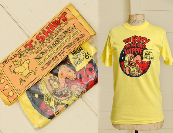 Deadstock sealed The Forty Year Old Hippie Ted Richards T Shirt Sz S