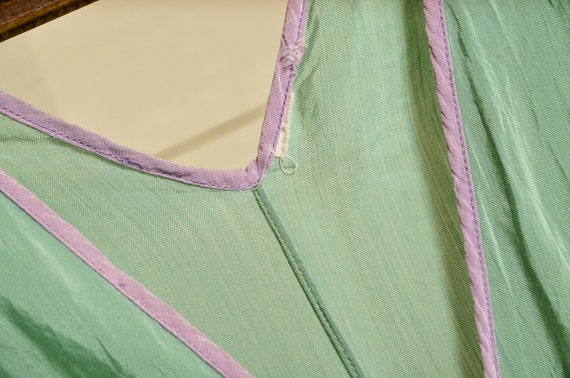 1930s Beach Pajamas Seafoam Green Silk Lounge Jum… - image 8