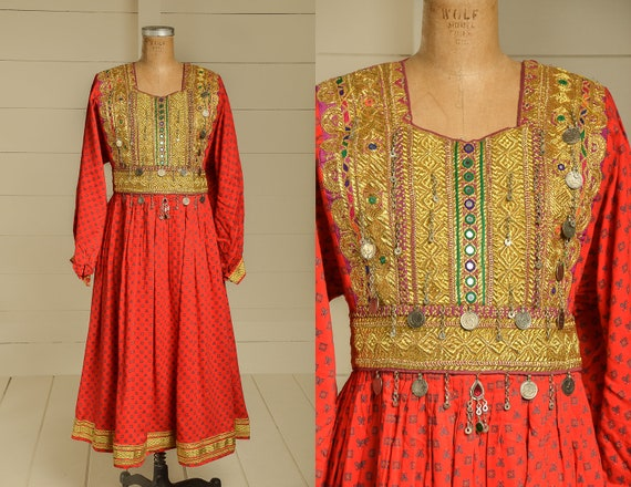 Antique Festival Dress Kuchi Afghanistan Hand Made