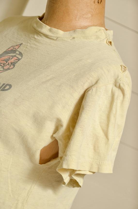 1950s Cleveland Indians Distressed Cotton Basebal… - image 5