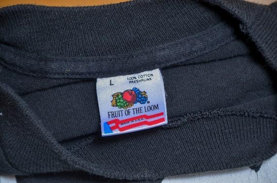 90s Twin Peaks Audrey Horne Black Cotton T Shirt - image 5