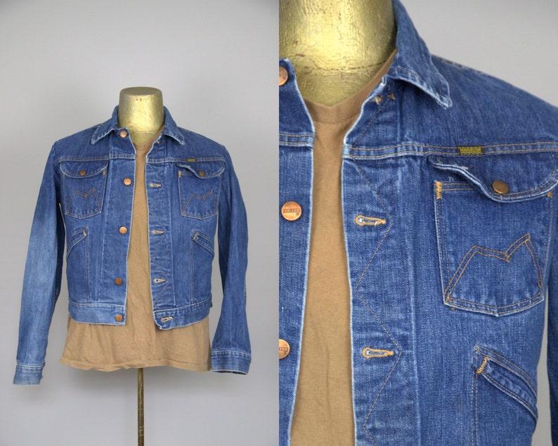 aa7f3a0acb5 70s Blue Bell Jean Jacket Maverick Indigo Blue Denim 4 Pocket | Etsy