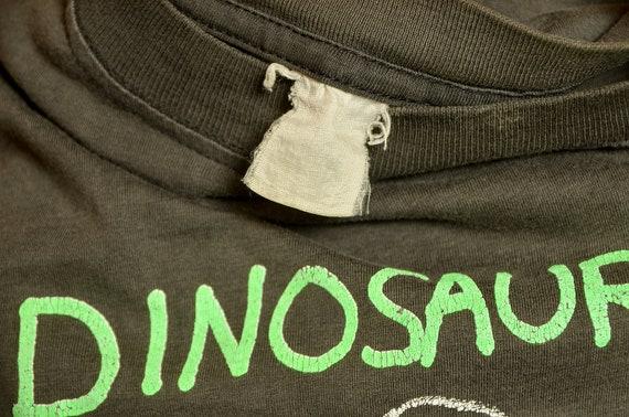 90s Dinosaur Jr. Cow T Shirt Black Cotton Distres… - image 6