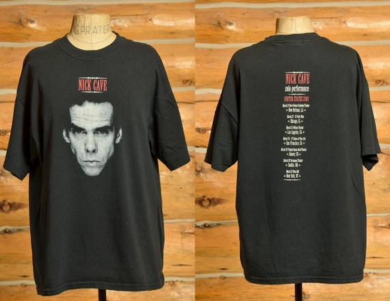 90s Nick Cave Black Cotton Tee