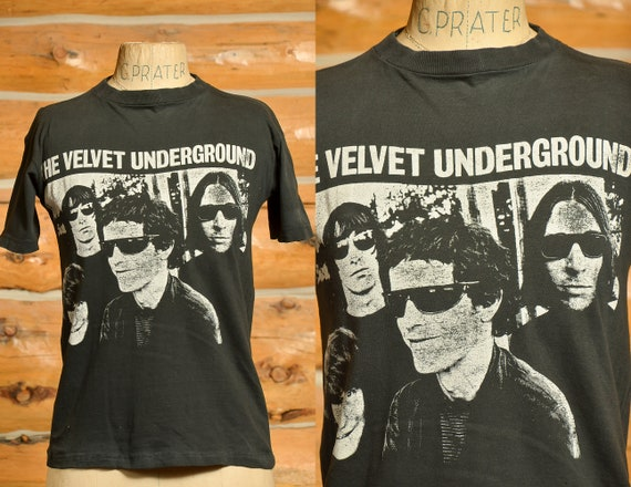 Early 80s Velvet Underground T Shirt Black Cotton