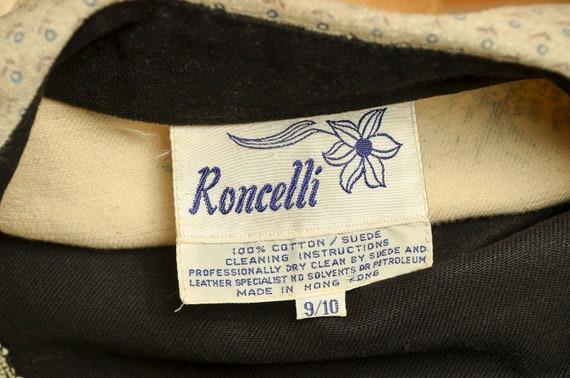 1960s Roncelli Denim & Leather Floral Hippie Jack… - image 7