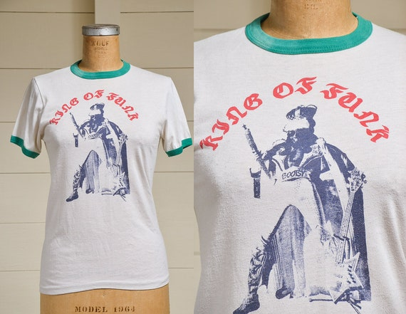 1970s Bootsy Collins King Of Funk Ringer T Shirt