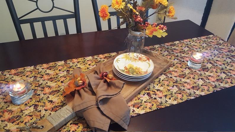 Autumn Table Runner Thanksgiving Table Runner Fall Table Runner Harvest Table Runner