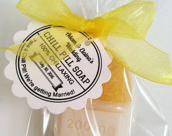 100 Chill Pill Soap Favors / Teacher gift / co-worker chill pill gift set / Party Favors /Rx Pill Nurse Gift