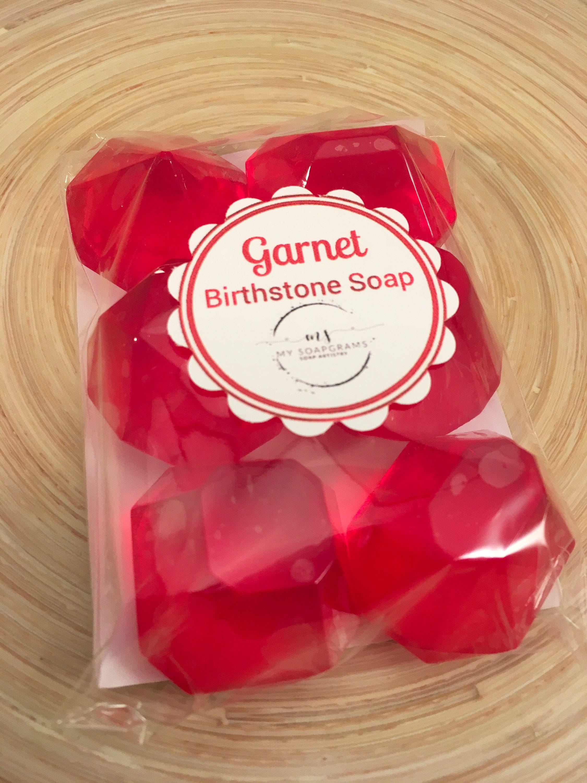 Birthstone Soap / Garnet Soap Stone / Jewel Soap / January | Etsy