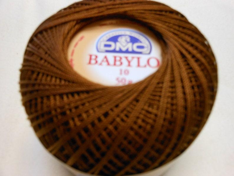 Dmc Babylo Crochet Thread Size 10brown 433 Etsy