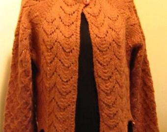 Cropped Jacket, Cinnamon brown