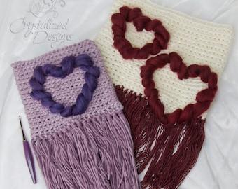 PDF Crochet PATTERN Heart Wall Hanging
