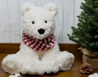 PDF Crochet PATTERN Peppermint the Polar Bear Amigurumi