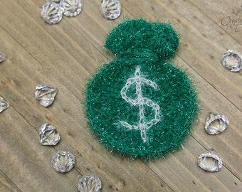 PDF Crochet PATTERN Money Scrubby Crochet Pattern