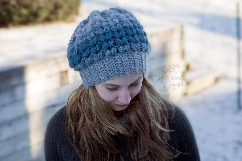 PDF Crochet PATTERN Amora Slouch Hat image 0