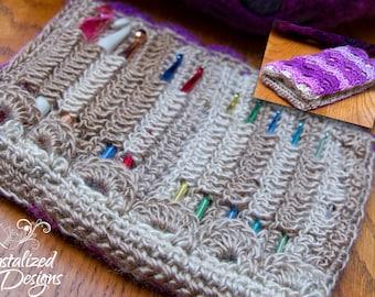 PDF Crochet PATTERN Cascading Crochet Hook Case