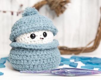 PDF Crochet PATTERN Stash Busting Snowman